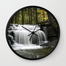 Waterfalls Landscape Wall Clock