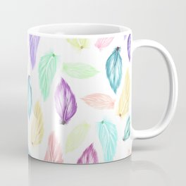 Modern colorful boho watercolor feathers hand painted pattern Coffee Mug