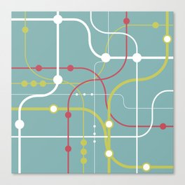 Line By Line - Bubblegum Pop-A Canvas Print