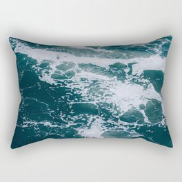 Ocean Marble #texture Rectangular Pillow