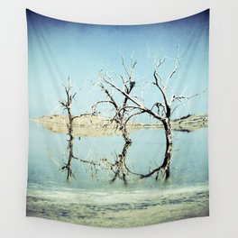 Three Trees in the Sea - Salton Sea California Wall Tapestry
