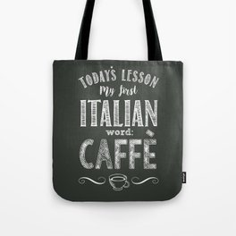 Italian Lessons / Coffee Tote Bag