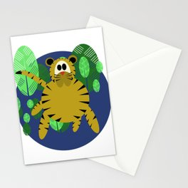 Tiger Goes Round Stationery Cards