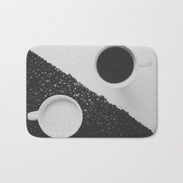 Black and White Coffee Bath Mat