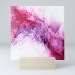 beautiful abstract art with fluid liquid paint Mini Art Print