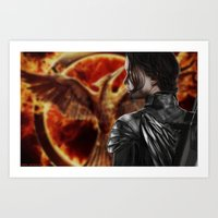katniss Art Prints featuring Katniss by MetaWorks
