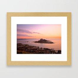 Saint-Malo Twilight Coast Framed Art Print