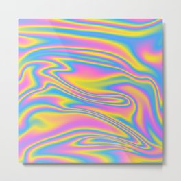 Holographic Nation Trip Party Metal Print