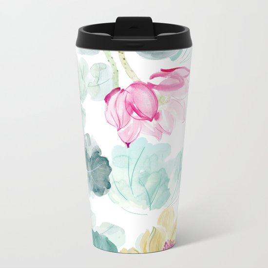 water lilies Metal Travel Mug