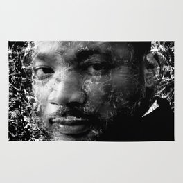MARTIN LUTHER KING (BLACK & WHITE VERSION) Rug
