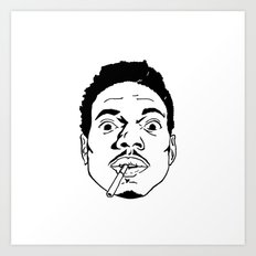Chance the Rapper  Art Print