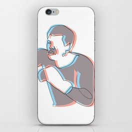 Boxing Ali (coulour) iPhone Skin