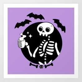 Death Before Decaf // Purple Art Print
