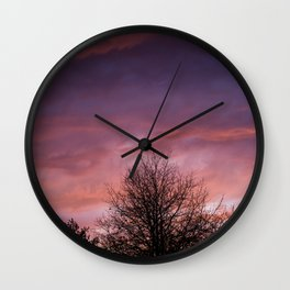 Sunsets and Silhouettes #2 Wall Clock