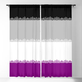 Pride - asexual fancy Blackout Curtain