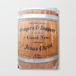Spread the Good News Metal Print