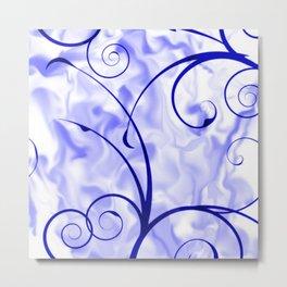 Design RAMONA,blue Metal Print