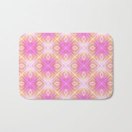 squareprint light pink Bath Mat