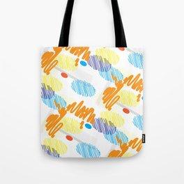 Contemporary interior design shapes unique pattern orange, blue decoration style Tote Bag