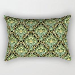 Golden Paisley Damask Rectangular Pillow