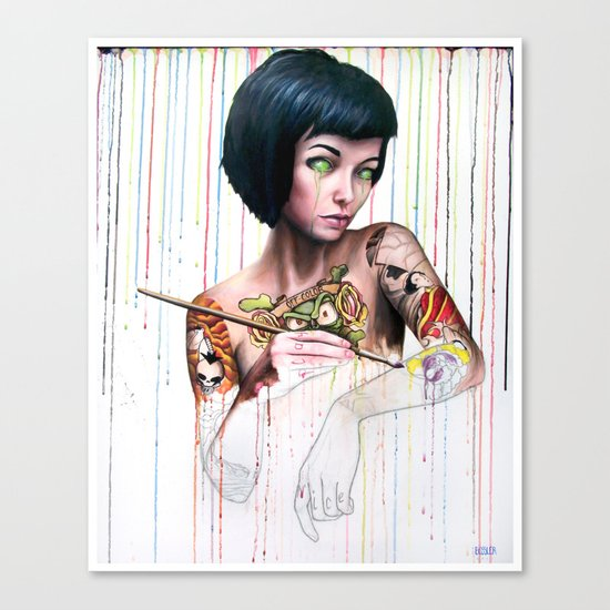Off-color Clara Canvas Print
