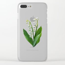 Lily of the Valley Floweret Clear iPhone Case