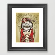 i wear my lucky skull  Framed Art Print