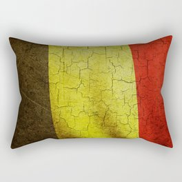 Cracked Belgium flag Rectangular Pillow