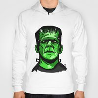 frankenstein Hoodies featuring Frankenstein  by Bleachydrew