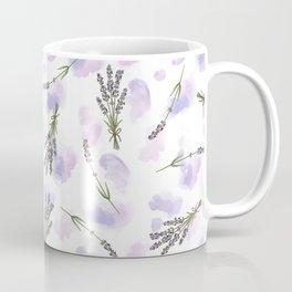Watercolour Lavender - repeat floral pattern Coffee Mug
