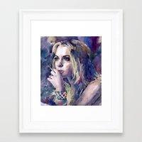 "lindsay lohan Framed Art Prints featuring ""Lindsay Lohan"" by Emma Reznikova"