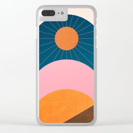 Abstraction_Sunshine_Minimalism_001 Clear iPhone Case