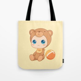 Baby in a Bear Jumpsuit Tote Bag