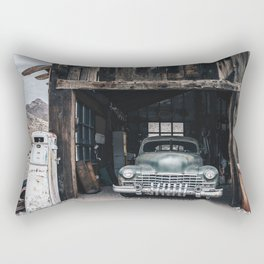 Old vintage car truck abandoned in the desert Rectangular Pillow