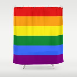 Rainbow Gay Shower Curtain