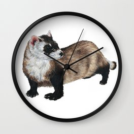 Black-Footed Ferret Wall Clock