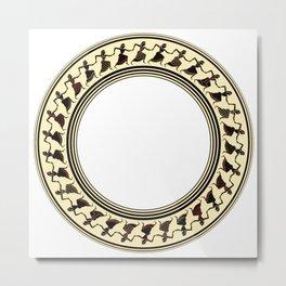 Etruscan Dancers Metal Print