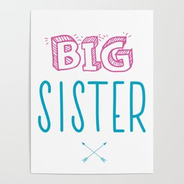 Big Sister Announcement Little Poster
