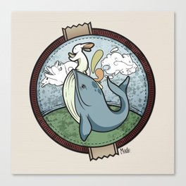 Tai Chi The Rabbit and The Whale Canvas Print