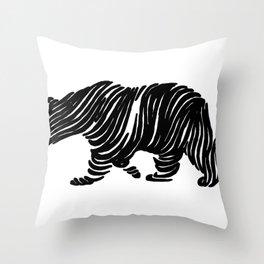 A Bear Walking Throw Pillow