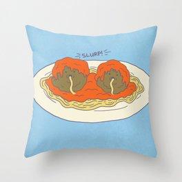 Cannimeatballism! Throw Pillow