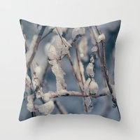 wisconsin Throw Pillows featuring Wisconsin Winter by Dave Hoefler