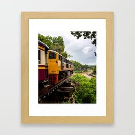 Tham Krasae Railway Framed Art Print