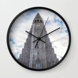 Hallgrímskirkja. Wall Clock