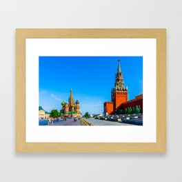 Red Square of Moscow Framed Art Print