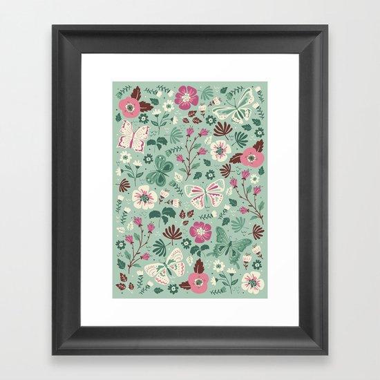 Garden Butterflies Framed Art Print