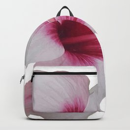 Pale Pink Hibiscus Tropical Flower No Text Backpack