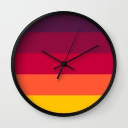 California Sunset - Favourite Palettes Series Wall Clock