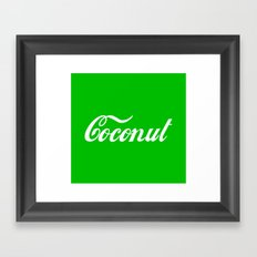 Coconut Framed Art Print