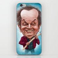 jack nicholson iPhone & iPod Skins featuring Jack Nicholson caricature by Jordygraph